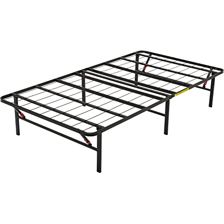 Amazon Basics Cadre de lit pliable - Montage sans outil - Rangement sous le lit - 90 x 190