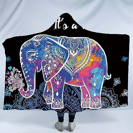 Boho Elephant No-Sew Fleece Blanket