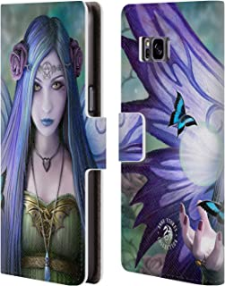 Official Anne Stokes Mystic Aura Fairies Leather Book Wallet Case Cover Compatible for Samsung Galaxy S8