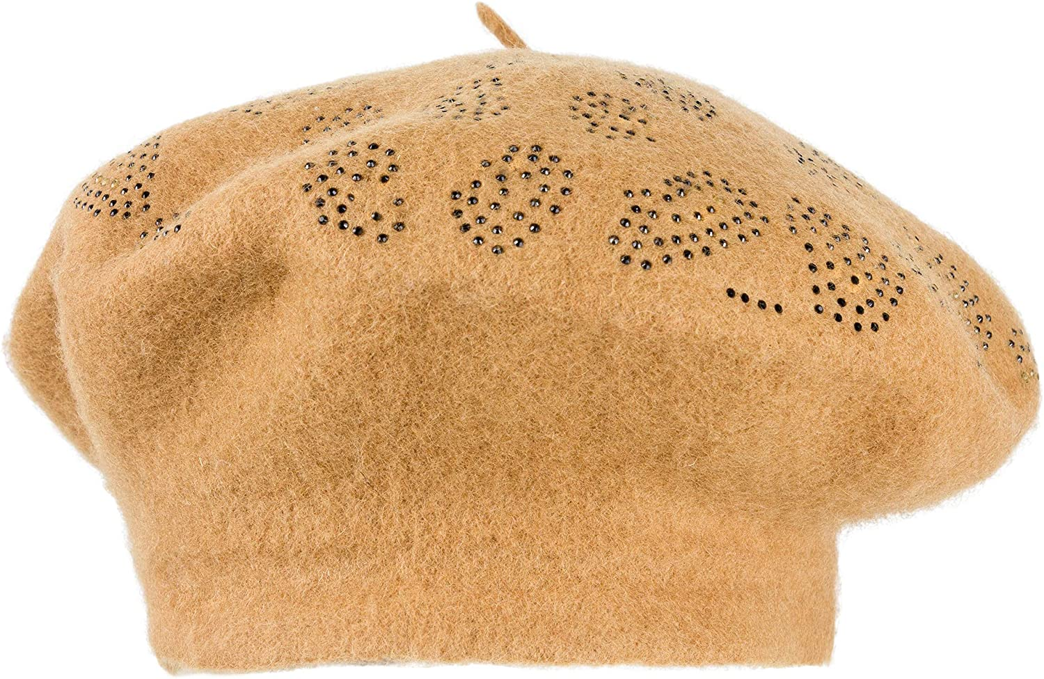 Jessica McClintock Women's Winter and Fall Beret with Rhinestone Detail