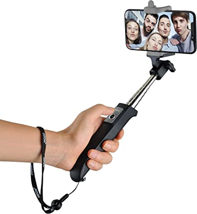 Bluetooth Selfie Stick, Mpow Extendable Monopod Phone Holder Built-in Remote Control Wireless Shutter for Travels, Family Entertainment, Friends photos-Compatible With iPhone X,8,7,7 Plus,6s,5s, Samsung Galaxy S8,S7, and other Smartphones