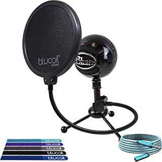 Blue Microphones Snowball USB Microphone with Knox Gear Shock Mount Bundle Brushed Aluminum