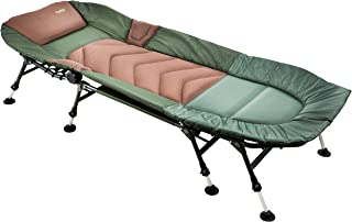MK-fiske sport 8-ben karpbyla – deluxe sängstol tål belastning upp till 150 kg – bekvämt och brett fiskeläge med huvuddel...