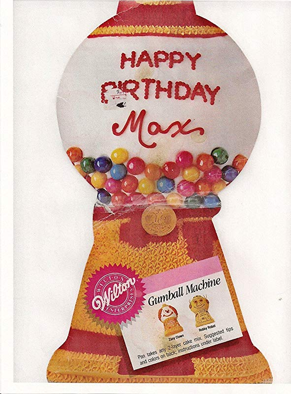 Wilton Gumball Candy Machine Robot Clown Cake Pan 2105 2858 1987