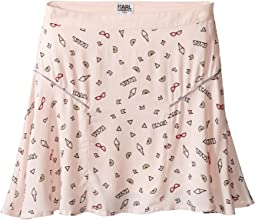 Karl Lagerfeld Kids - Viscose Skirt w/ All Over Ice Cream Print (Little Kids)