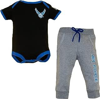 AIR Force 2 PC Infant Jogger (Black/Grey)