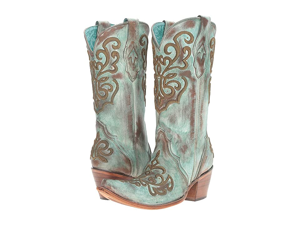 Corral Boots C2990 (Tan/Turquoise) Women