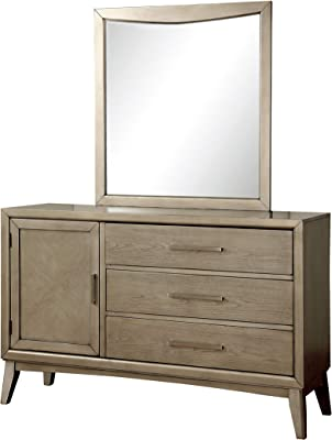 Amazon.com: Base de cama Modway Tracy de madera, color beige ...