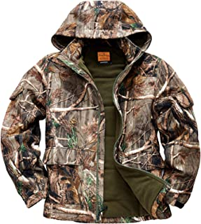 NEW VIEW Hunting Clothes for Men,2020 Upgrade Thickened Silent Water Resistant Hunting Jackets,Camo Hooded Jacket