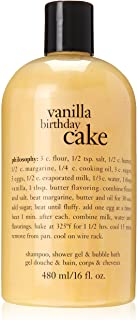 Philosophy Vanilla Birthday Cake Bath Care for Unisex, 16 Ounce