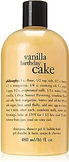 Philosophy Vanilla Birthday Cake Bath Care for Unisex, 16 Ounce