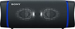 Sony SRS-XB33 Extra Bass Wireless Portable Waterproof Bluetooth Speaker with 24hr Battery Life, Black, Compact