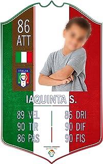 Adesivo Murale - Card Personalizzata FUT Player - Italia - Plug Calcio Soccer Cameretta Idea Regalo Squadra del Cuore Calc...