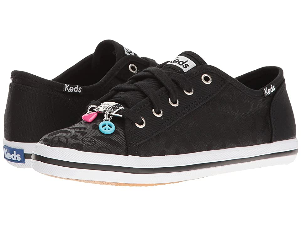 Keds Kids Kickstart Charm (Little Kid/Big Kid) (Black) Girl