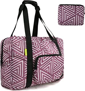 Foldable Duffle Bag Easy Fold Inside Pockets Lightweight Carry On Luggage with Zipper Waterproof for Men Women