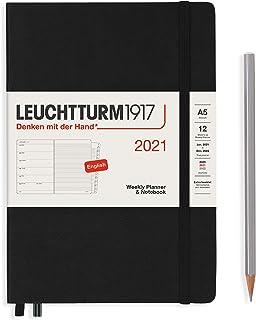 ロイヒトトゥルム 手帳 2021年 1月始まり A5 ウィークリー ブラック 361843