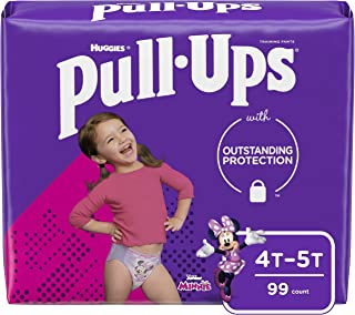 Pull-Ups Learning Designs Girls` Training Pants, 4T-5T, 99 Ct