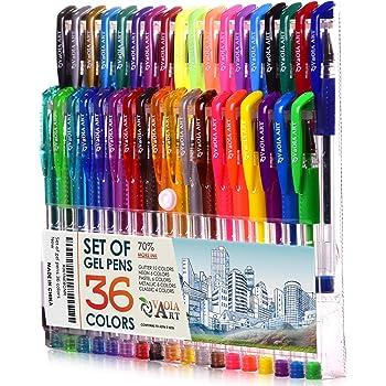Color Gel Pens - Gel Pens for Kids - Coloring Pens - Gel Pens Set - Pen Sets for Girls - Spirograph Pens - Pen Art Set - Artist Gel Pens - Sparkle Pens for Kids - 36 Gel Pens - Arts Pens