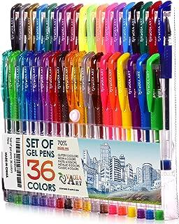 Color Gel Pens - Gel Pens for Kids - Coloring Pens - Gel Pens Set - Pen Sets for Girls - Spirograph Pens - Pen Art Set - Artist Gel Pens - Sparkle Pens for Kids - 36 Arts Gel Pens