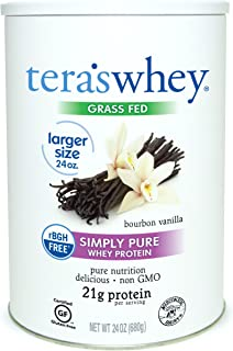Teraswhey Simply Pure Whey Protein, Bourbon Vanilla, 24 Oz, 24 Ounce