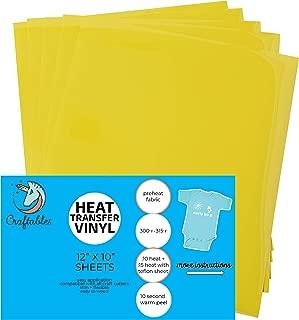 Best yellow heat transfer vinyl Reviews