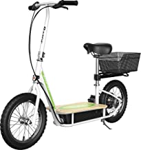"""Razor EcoSmart Metro Electric Scooter – Padded Seat, Wide Bamboo Deck, 16"""" Air-Filled Tires, 500w High-Torque Motor, Up to..."""