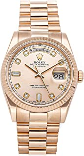 Day-Date Mechanical (Automatic) Pink Dial Mens Watch 118235 (Certified Pre-Owned)