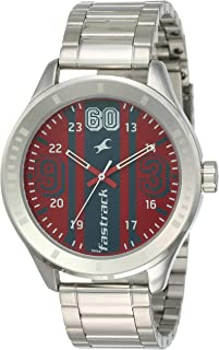 Fastrack Casual Watch for Men, 3177SM01 - Silver