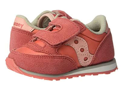 Saucony Kids Originals Jazz Hook Loop (Toddler/Little Kid) (Pink/Pink) Girls Shoes
