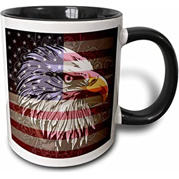 American Eagle Patriotic America 4th of July Proud USA Mug Merica Flag Coffee