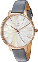 Ted Baker Ladies' Gold Plated Purple Leather Kate Watch TE50272005