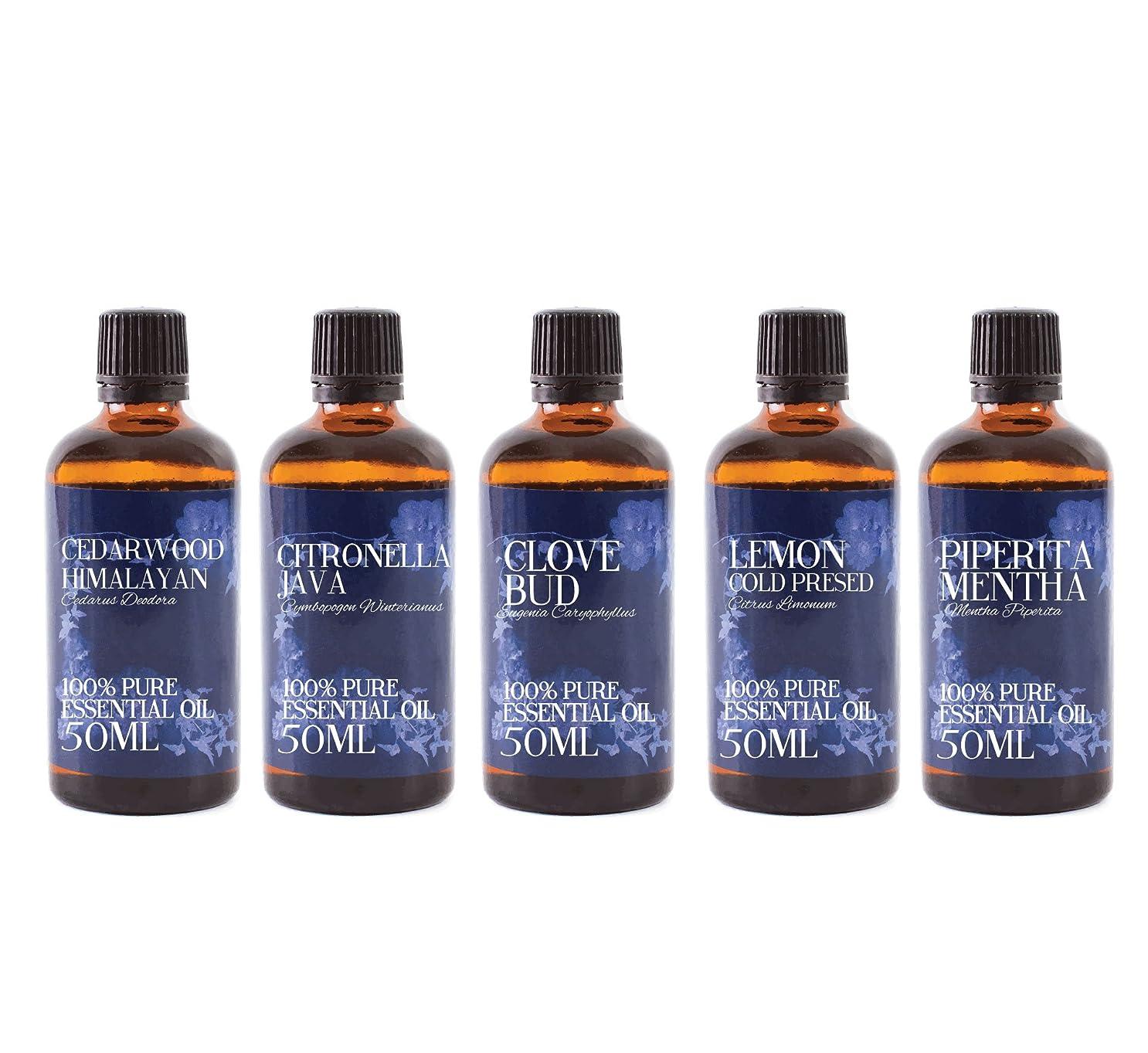 封筒刺します収縮Mystic Moments | Gift Starter Pack of 5 x 50ml Insect Repellent Essential Oils