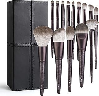 MAANGE Makeup Brushes, 14 Pcs Travel Professional Synthetic Makeup brush Set With Holder,Foundation Contour Powder Concealer Eye Shadow Make Up Brush With Case