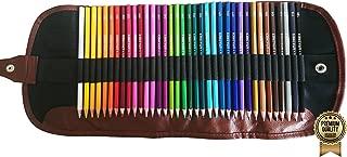 Amazrock Watercolor Pencils Set - 36 Colors (Soft Core Special Edition) | Water Soluble Artist Colored Pencils - Travel + Canvas Roll Colored Pencil Case