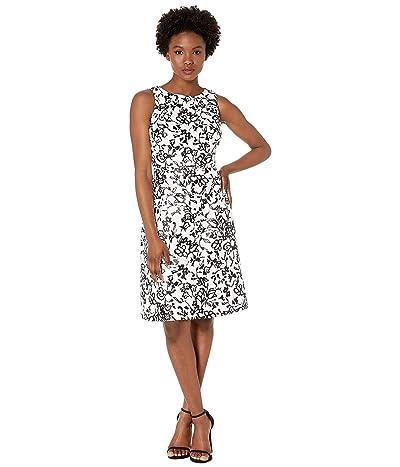 LAUREN Ralph Lauren Petite Folade Dress (Lauren White/Black) Women