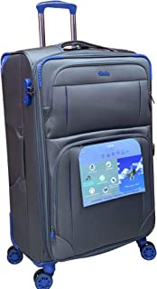 Excellent India Luggage Bag  Trolley Luggage Bags  Big: 78 cms  2 Years Warranty  Pewter Grey   28 inches 