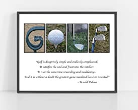 GOLF art, Creative letter art, Gift for Golf Lover, Gifts for Dad, Golf wall art, Golf quote, Fathers day gift, 8x10 unframed wall art