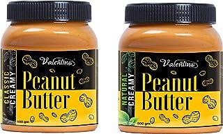 valentino pean0ut Butter Combi Classic creamy500gm+Natural Creamy 500gm(1 kg)(Pack of 2)