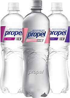 Propel, 3 Flavor Variety Pack, Zero Calorie Water Beverage with Electrolytes & Vitamins C&E,  24 Fl Oz, Pack of 12