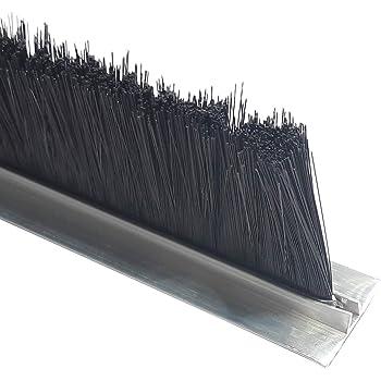 cepillo Junta 100 cm de aluminio perfil T Burlete mosca Junta Persianas: Amazon.es: Bricolaje y herramientas