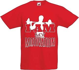lepni.me Kids T-Shirt I Am My Motivation, Weightlifting Squat Deadlift