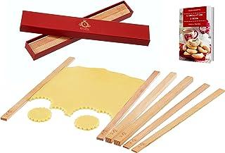 Kitchtic Ustensiles à Pâtisserie avec 6 Guides pour Rouleaux à Pâtisserie de Qualité - Accessoire Pâtisserie Guide d'Abais...