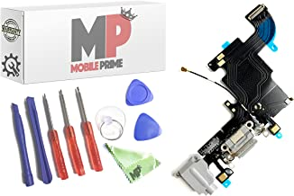 MobilePrime Gray Charging Port Replacement Kit Compatible for iPhone 6S Including Repair Tools 821-00078-08