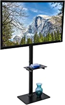 Mount-It! Portable TV Floor Stand with Mount - Tall Pedestal Television Stand with Free-Standing Base, Ideal for Presentations, Tradeshows, Outdoors, Home and Office Use, Fits Up to 70 Inch Screens