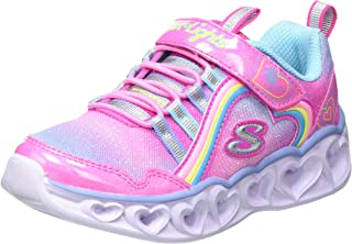 Skechers Heart Lights Rainbow Lux, Basket Fille