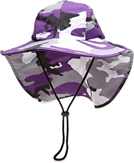 ae7004aae9a MIRMARU Outdoor Sun Protection Hunting Hiking Fishing Cap Wide Brim hat  with Neck Flap
