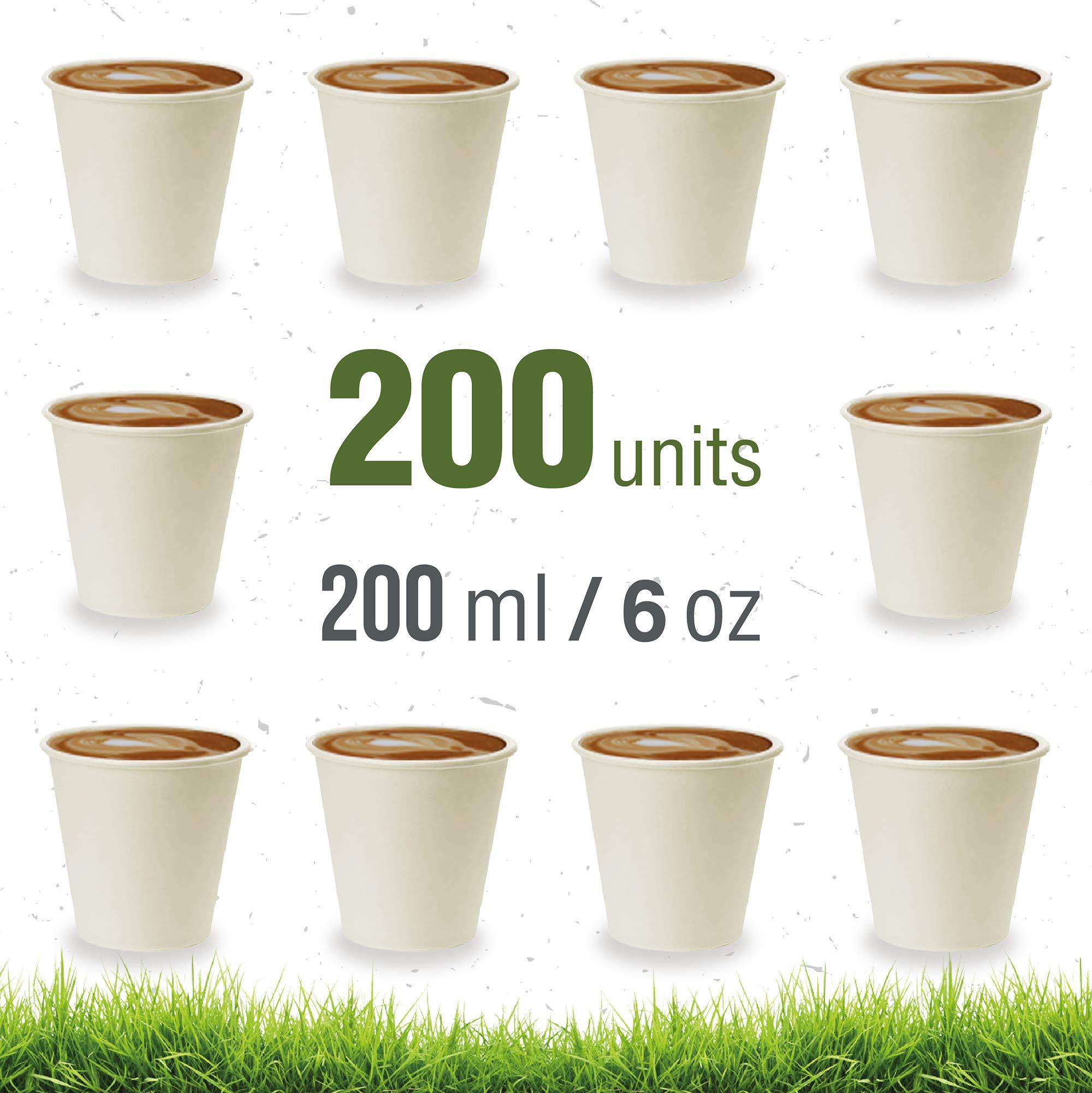 Soul Forest - Vasos Reciclables de Cartón 200 ml - Pack de Vasos ...