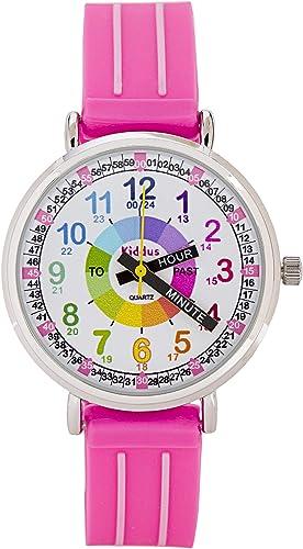 KIDDUS Reloj Niña con indicador de Hora en Ingles. KI10308
