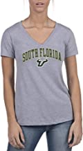 Top of the World NCAA Womens Trim Modern Fit Ideal Short Sleeve V-Neck Gray Heather Tee