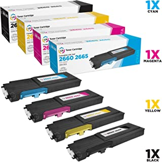 LD Compatible Toner Cartridge Replacements for Dell C2660dn C2665dnf Extra High Yield (1 Black, 1 Cyan, 1 Magenta, 1 Yellow, 4-Pack)